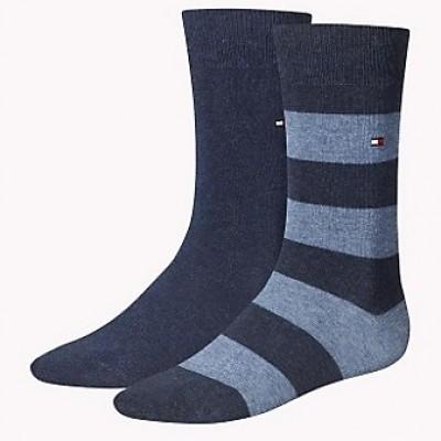 Foto van Tommy Hilfiger 2 pack heren sokken 342021001 356 jeans