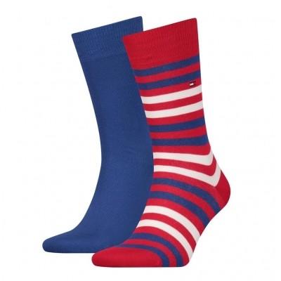 Foto van Tommy Hilfiger 2 pack heren sokken 472001001 861 ribbon red
