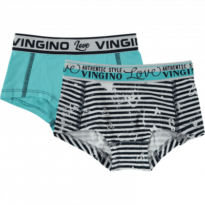 Foto van Vingino girls short Amore 2-pack SS18KGN72601
