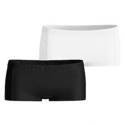 Foto van Bjorn Borg mini shorts effen 2 pack 999102-302152 zwart/wit