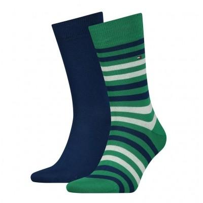 Foto van Tommy Hilfiger 2 pack heren sokken 472001001 014 green/white
