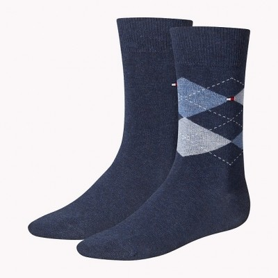 Foto van Tommy Hilfiger 2 pack heren sokken 391156 356 jeans