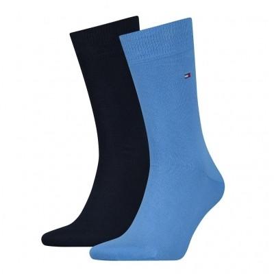Foto van Tommy Hilfiger 2 pack heren sokken 37111 017 palace blue