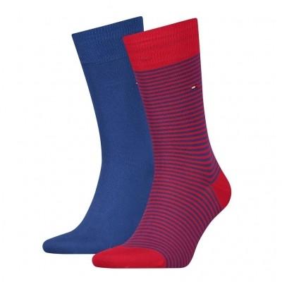 Foto van Tommy Hilfiger 2 pack heren sokken 342029001 861 ribbon red