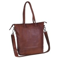 Leather Shopper Black Label Cognac Lily Cognac
