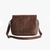 Leather Shoulder Bag Brown Chen Brown