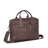 Leather Laptop Bag Brown Jake Brown