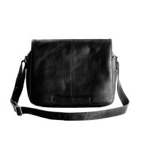 Leather Shoulderbag Black Chen Black