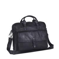 Leather Laptop Bag Antraciet Black Label Steve Anthracite