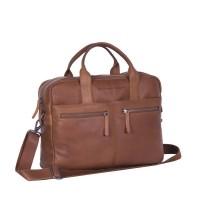 Leather Laptop Bag Cognac Jake Cognac