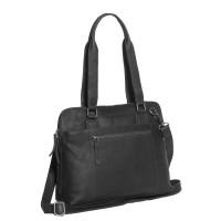Leather Shoulder Bag Black Cara Black