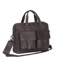 Leather Laptop Bag Brown Dylan Brown