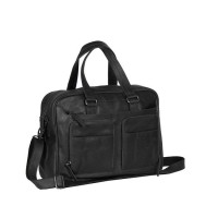 Leather Laptop Bag Black Samual Black