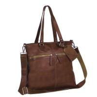 Leather Shopper Bag Cognac Cleo Cognac