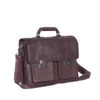 Leren Shoulder Bag Brown Mario Brown