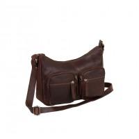 Leather Shoulder Bag Brown Victoria Brown
