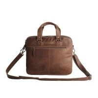 Leather Laptop Bag Brown Jovi Brown