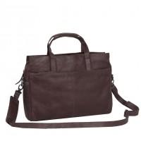 Leather Laptop Bag Brown Damian Brown