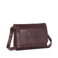 Leather Shoulder Bag Brown Maha Brown