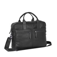 Leather Laptop Bag Black Jake Black