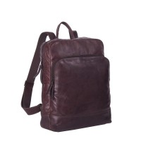 Leather Backpack Brown Maci Brown