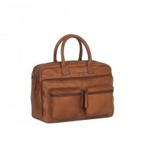 Leather Laptop Bag Cognac Julius Cognac