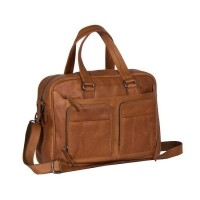 Leather Laptop Bag Cognac Samual Cognac
