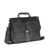 Leather Shoulder Bag Black Joe Black