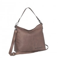 Leather Tote Bag Taupe Victoria Taupe