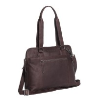 Leather Shoulder Bag Brown Cara Brown