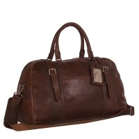 Leather Travelbag Dark Cognac Avan donker cognac