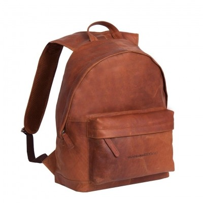 Photo of Leather Backpack Cognac Medium Andrew