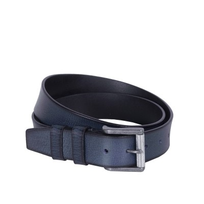 Leather Belt Aayden Navy