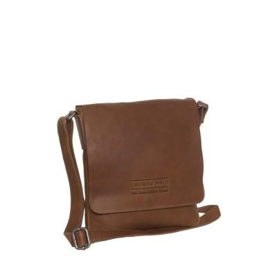 Photo of Leather Shoulder Bag T10 Cognac Thomas Hayo