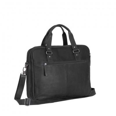 Photo of Leather Laptop Bag Black George