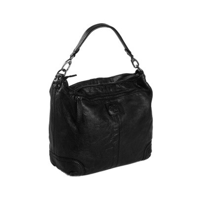 Photo of Leather Shoulder Bag Black Abby