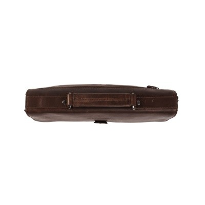 Photo of Leather Briefcase Brown Bren