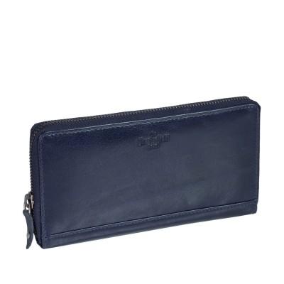 Leather Wallet Navy Bridget