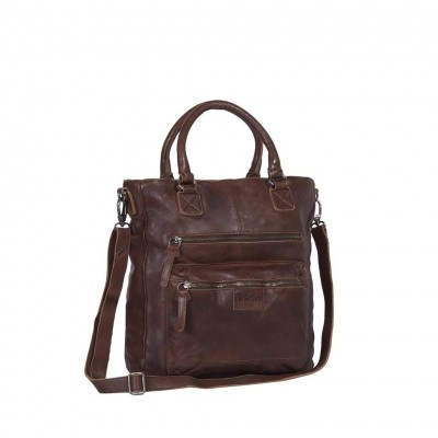 Leather Tote Bag Brown Harper
