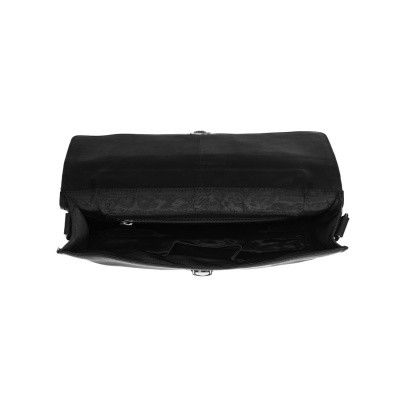 Photo of Leather Briefcase Black Brenn