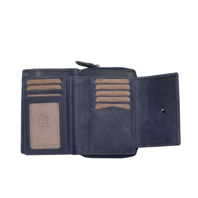 Photo of Leather Wallet Navy Ascot