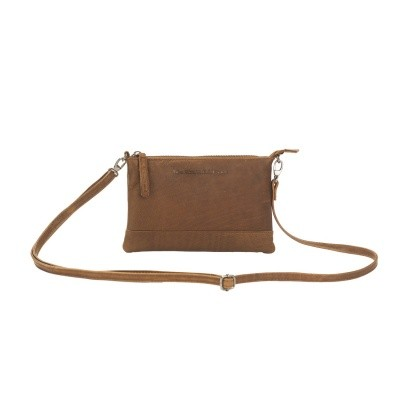 Photo of Leather Clutch Cognac Sue