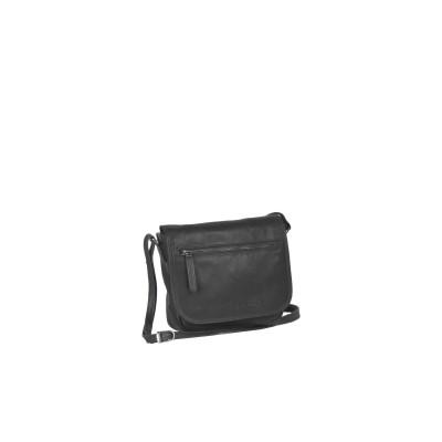 Leather Shoulder Bag Black Cis