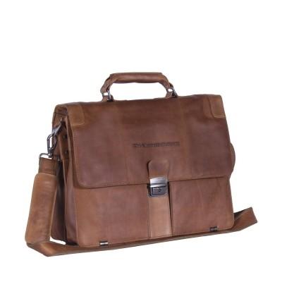 Leather Shoulder Bag Cognac Joe