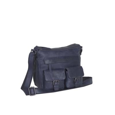 Photo of Leather Shoulder Bag Navy Monica