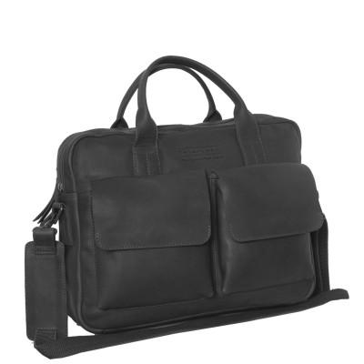 Photo of Leather Laptop Bag T8 Black Thomas Hayo