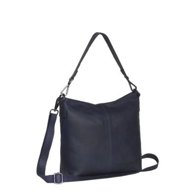 Photo of Leather Shoulder Bag Navy Jen