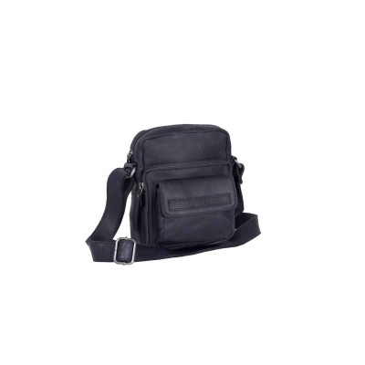 Leather Shoulder Bag Navy Anna