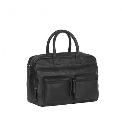 Leather Laptop Bag Black Julius