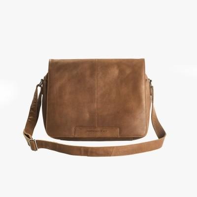 Leather Shoulder Bag Cognac Chen